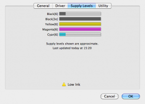 snow leopard printer driver supply levels