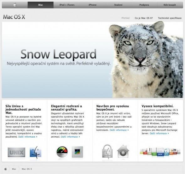 (03) Apple - Mac OS X Snow Leopard - Nejvyspělejší operační systém na světě
