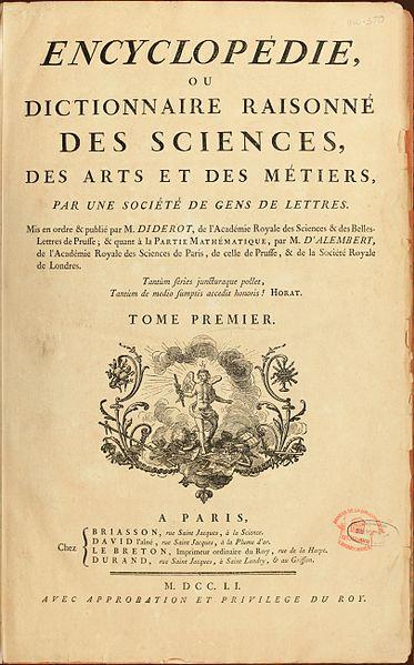 Denis Diderot, který projekt francouzské Encyklopedie vedl, sám napsal přes 1000 hesel.