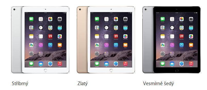 iPad Air 2 barvy