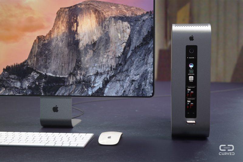 Koncept nového modulárního Macu Pro dle Curved