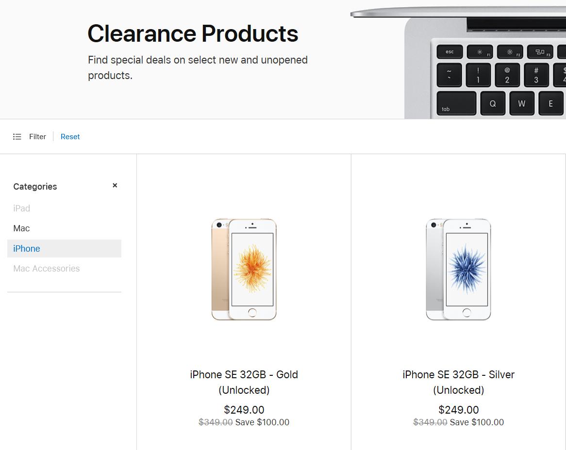 iPhone SE opět v nabídce Apple Online Store