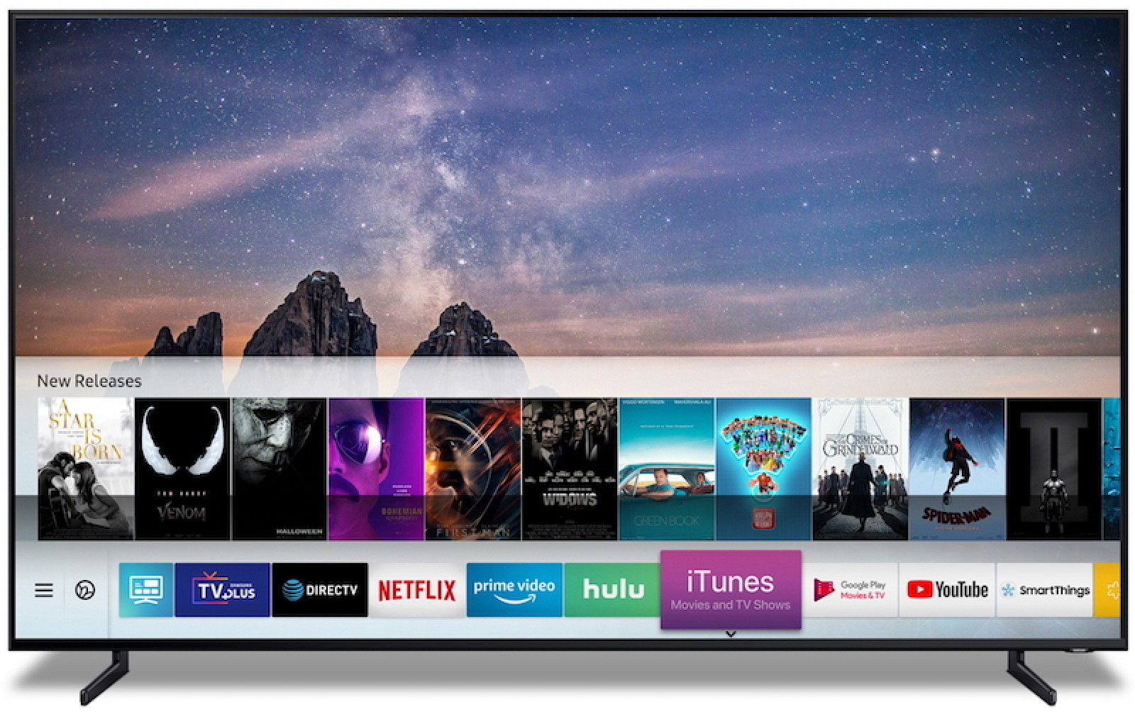 iTunes Movies and TV Shows a AirPlay 2 ve Samsung Smart TV