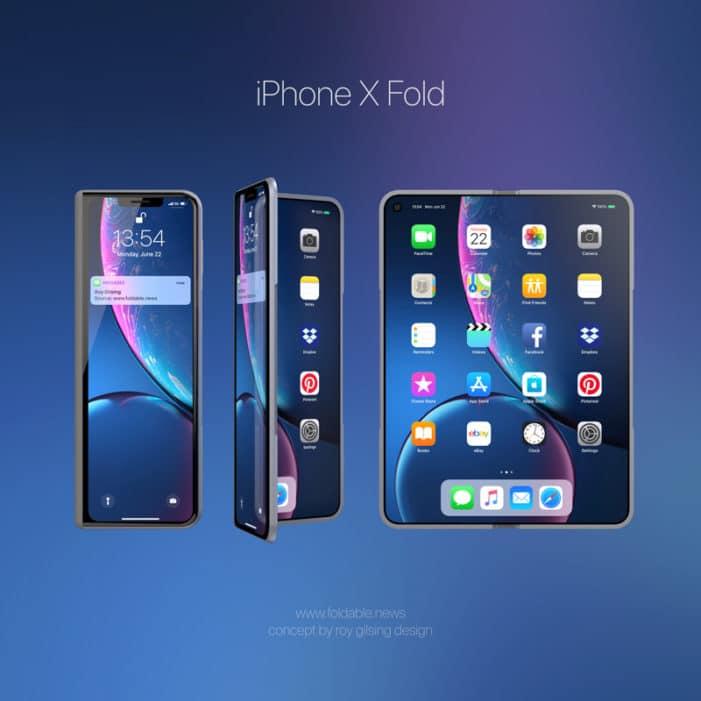 iPhone X Fold - koncept ohebného telefonu