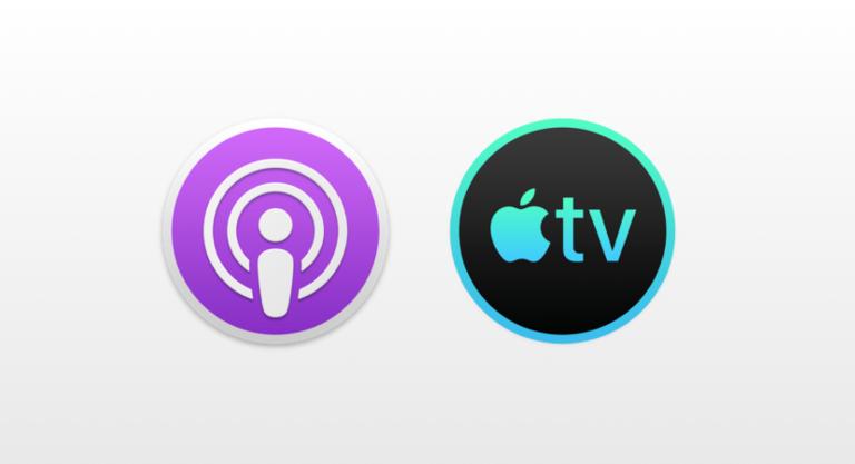 Nové ikonky aplikací Podcasty a TV