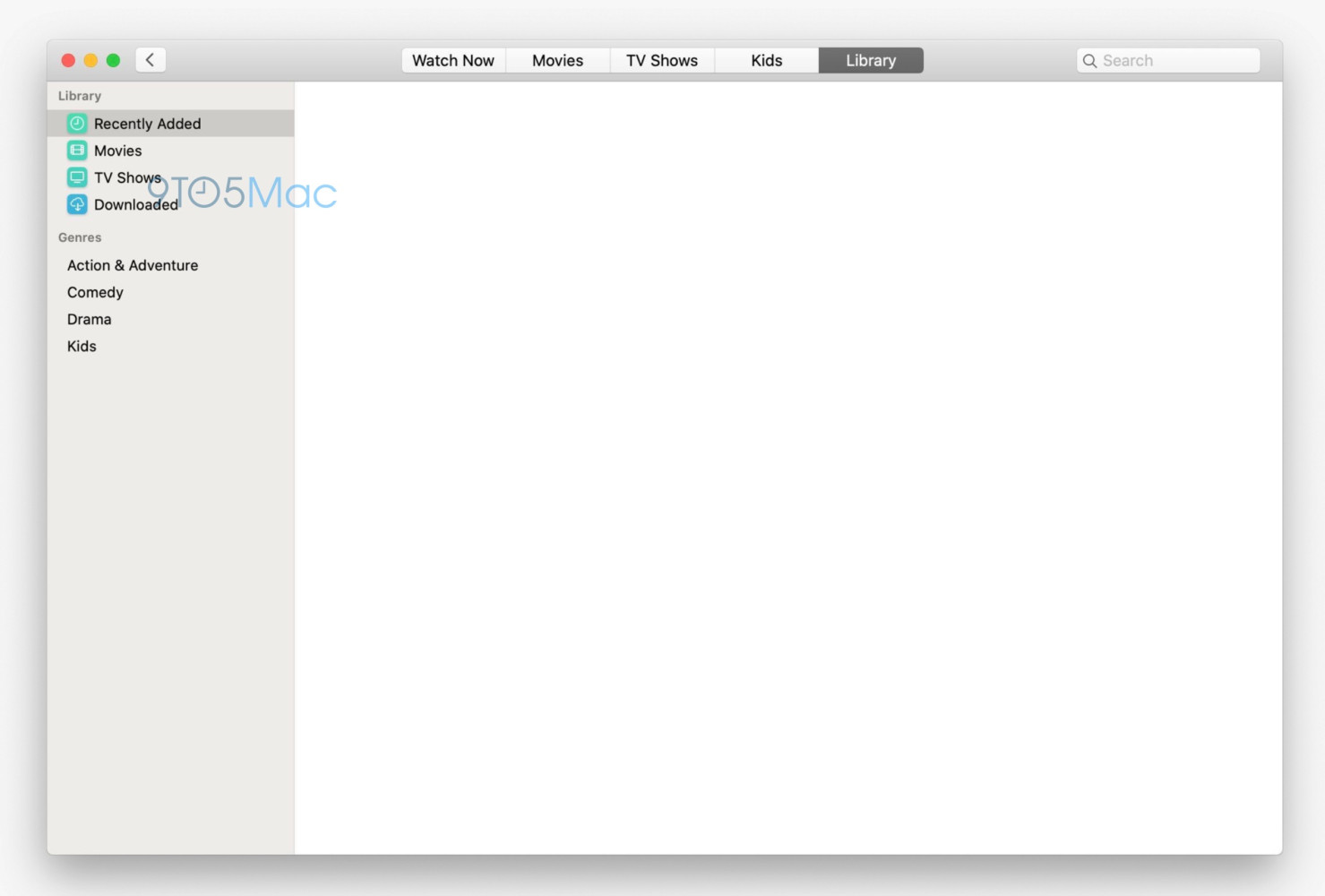 Aplikace TV macOS 10.15