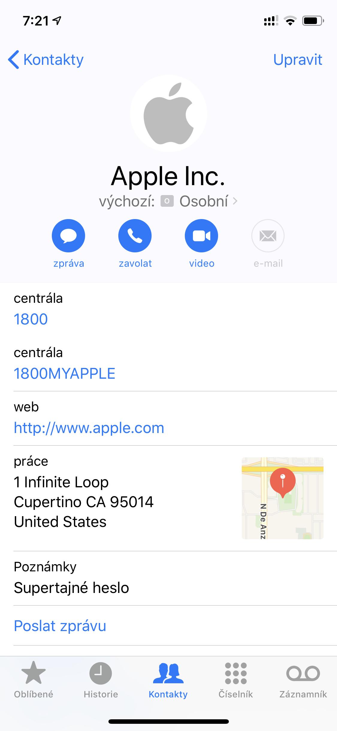 Poznámky v kontaktech už nebudou v iOS 13 přístupné aplikacím třetích stran