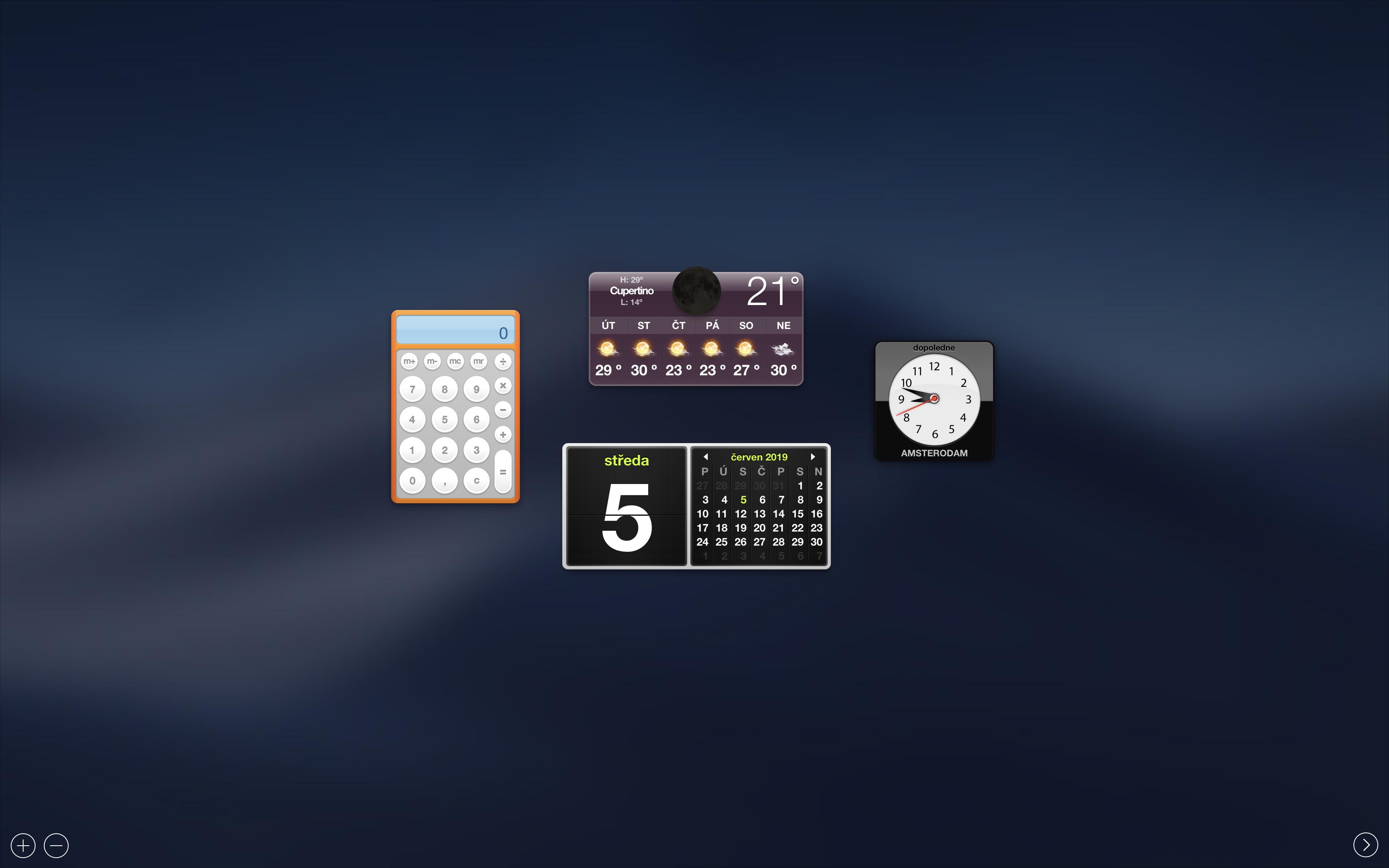 Dashboard v macOS 10.14 Mojave