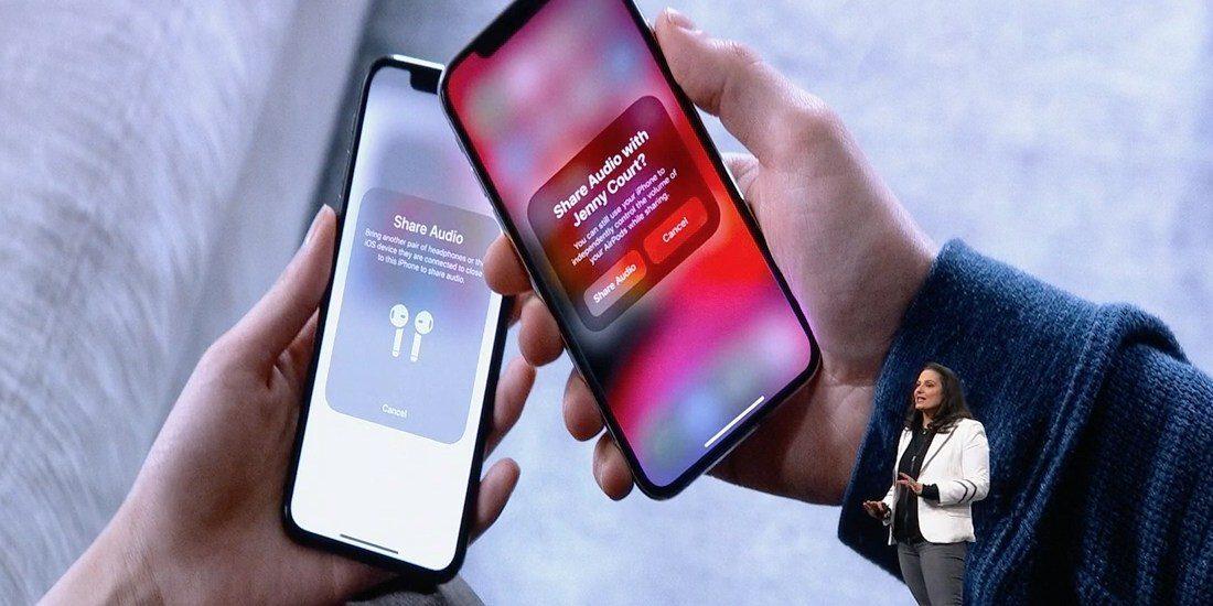iOS 13 umožní sdílení zvukového výstupu mezi dvěma zařízeními