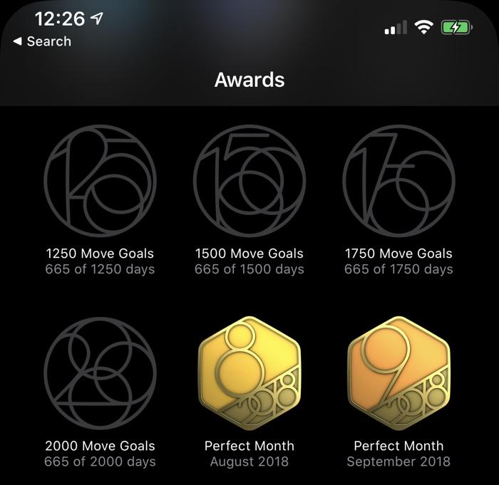 Nové pohybové cíle v iOS 13 a watchOS 6