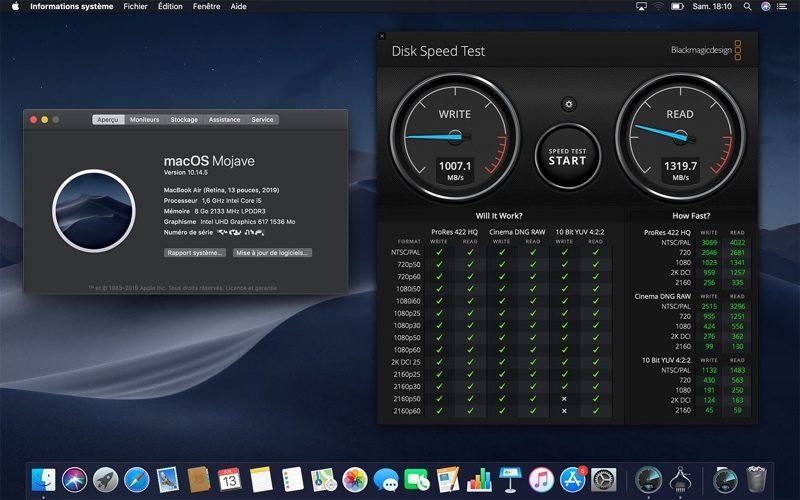 Pomalé SSD MacBook Air 2019