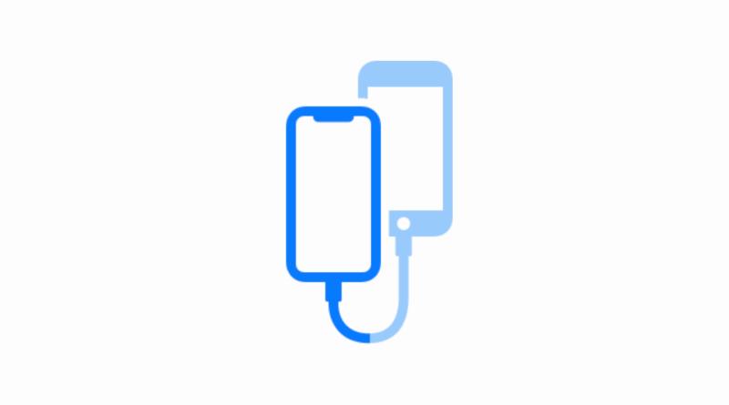 Přenos dat mezi iPhony pomocí kabelu
