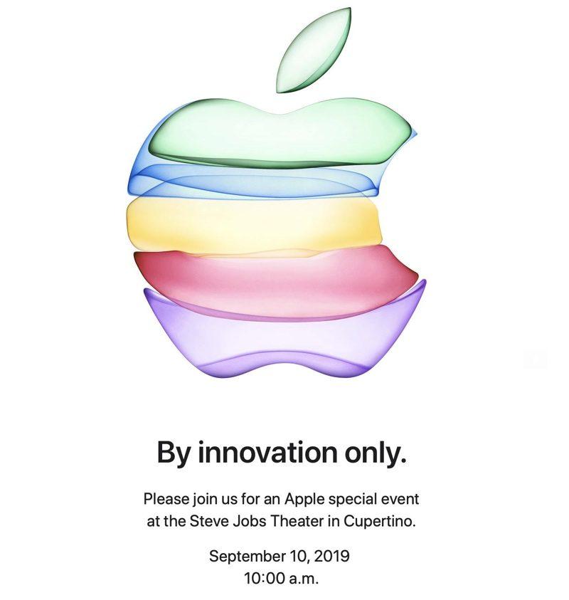 Pozvánka Apple Keynote iOS 13 10. září 2019