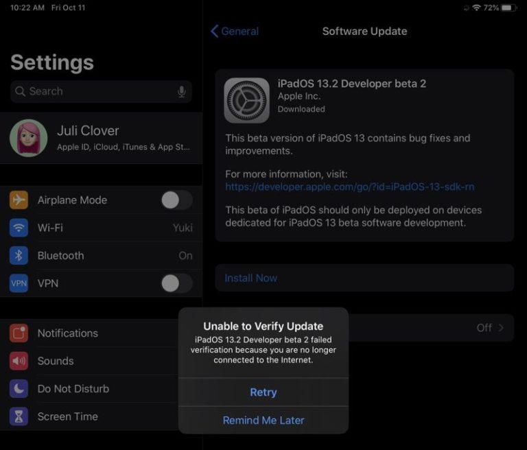 Druhá betaverze iOS 13.2 znefunkčnila část iPadů Pro