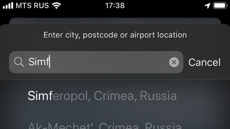 Krym součástí Ruska. Alespoň podle aktualizovaných Apple Map