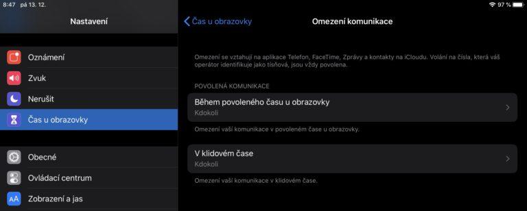 Nová funkce Omezení komunikace v iOS 13.3 je děravá. Děti ji dokáží obejít