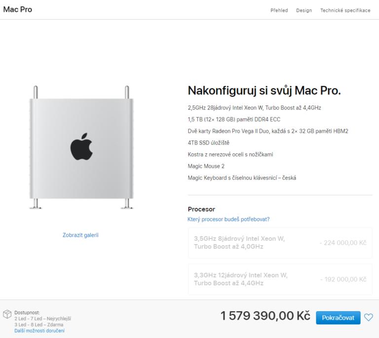 Nejvýkonnější Mac Pro 2019 je zde. Počítač dorazí prvním majitelům na přelomu prosince a ledna