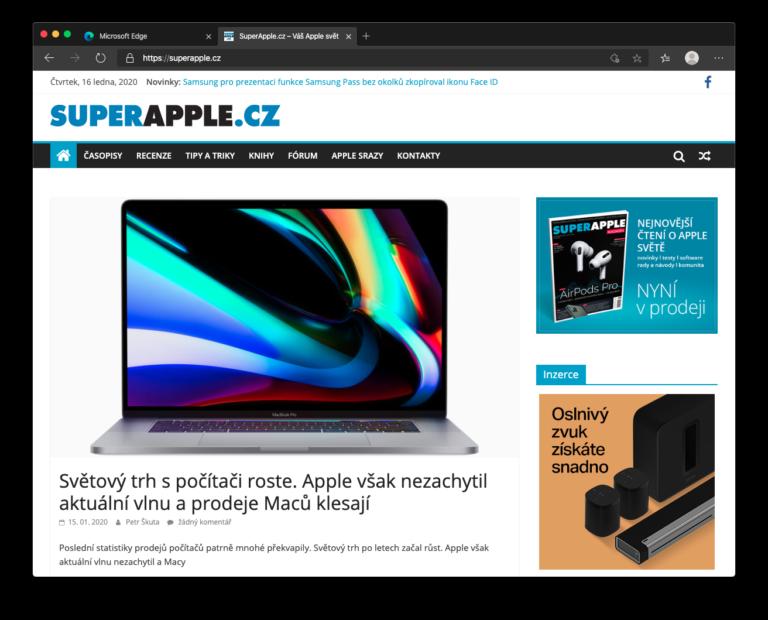 Microsoft vydal ostrou verzi nové generace prohlížeče Edge pro Mac. A je překvapivě dobrá