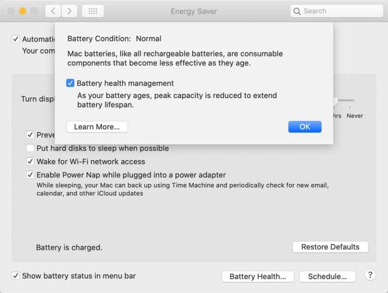 Chytrá správa napájení a baterie i pro MacBooky. Přijde společně s macOS 10.15.5 Catalina