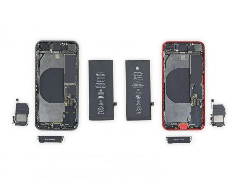 Část součástek iPhone 8 lze použít v iPhone SE 2020