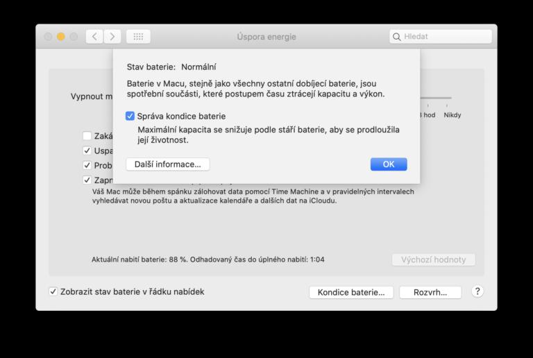 Vyšla aktualizace macOS 10.15.5. Přináší funkci správa kondice baterie pro MacBooky a opravy chyb