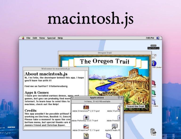 Stáhněte si emulátor systému Mac OS 8. Funguje na všech platformách