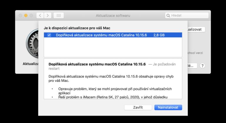 Aktualizace macOS Catalina a iOS 13. Opraven problém s virtualizačními nástroji anebo zelenání obrazovky
