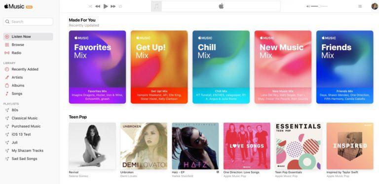 Apple spustil novou betaverzi webového přehrávače Apple Music. Design připomíná iOS 14