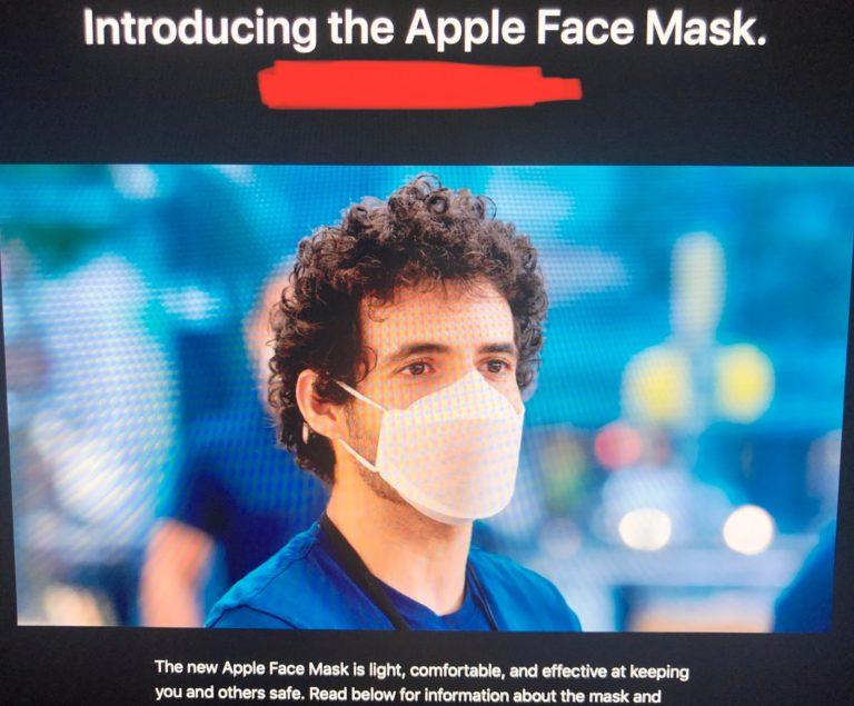 Apple navrhl roušky pro své zaměstnance. Nyní je mají k dispozici