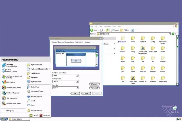 Microsoft pracoval na motivu pro Windows XP, který přímo kopíroval vzhled Mac OS X