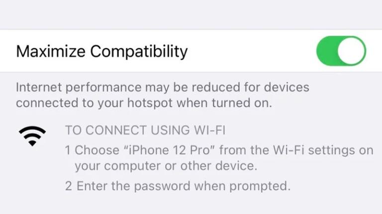 Příjemnou novinkou v iPhonech 12 je rychlejší Hotspot díky podpoře 5 GHz Wi-Fi