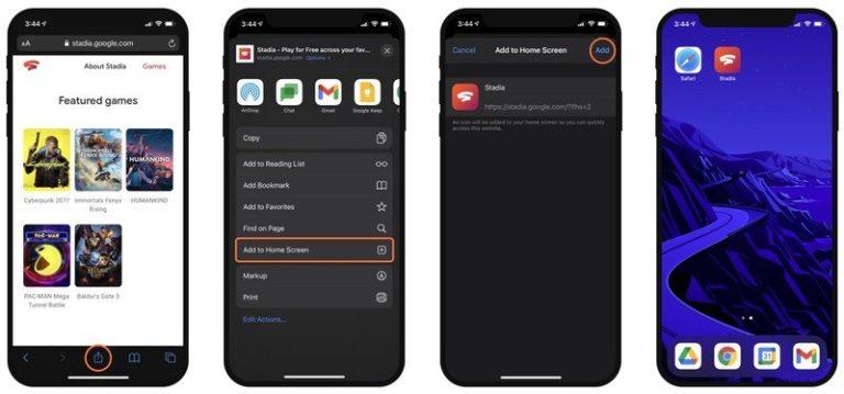 Herní streamovací služba Google Stadia přichází na iOS. Využívá webový prohlížeč Safari