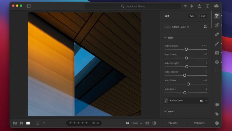 Adobe Lightroom už je optimalizovaný pro Apple Silicon. Photoshop pro počítače Mac s M1 procesory v betaverzi