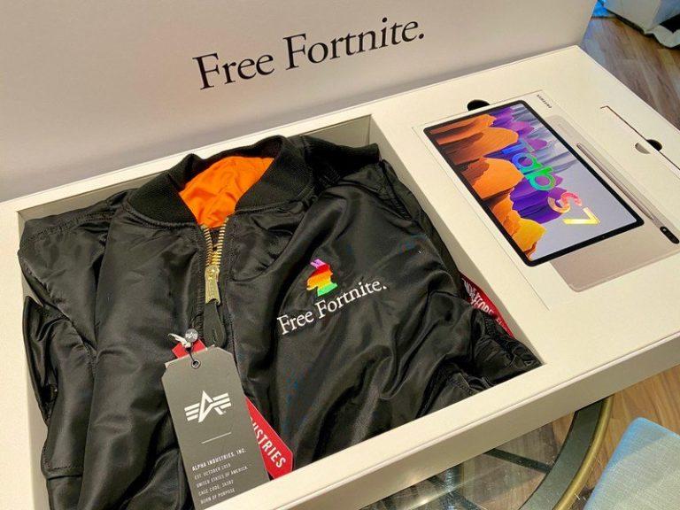 Epic Games ve spolupráci se společností Samsung zasílají influencerům tablety Galaxy Tab S7 a oblečení Free Fortnite