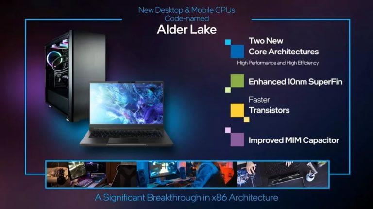 Intel představil nové procesory Alder Lake. Kombinují výkonná a úsporná jádra jako čipy Apple M1