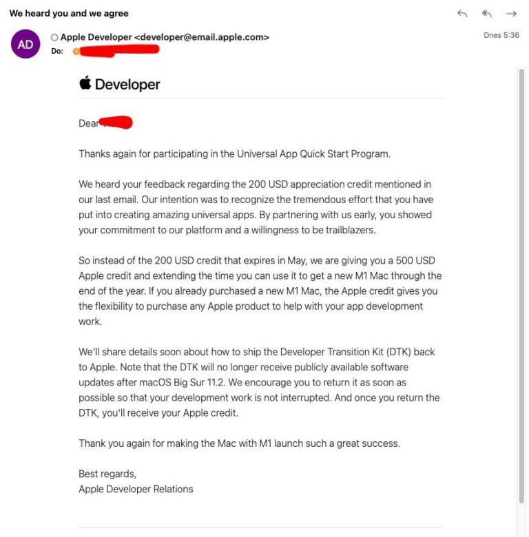 Apple otáčí. Vývojáři dostanou zpět plných 500 USD, které zaplatili za vypůjčení DTK Mac mini s A12Z