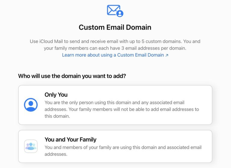 Betaverze iCloud emailu na vlastní doméně startuje