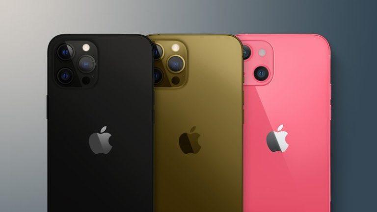 iPhone 13 prý nabídne růžovou barvu. iPhone 13 Pro přidá černou a bronzovou barvu