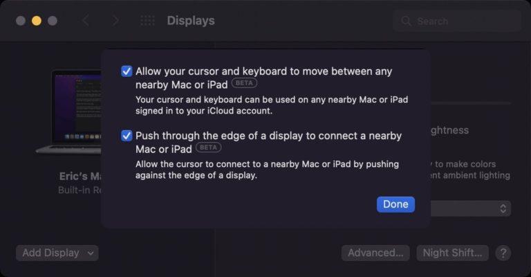 Nejzajímavější funkce macOS Monterey Universal Control stále v nedohlednu